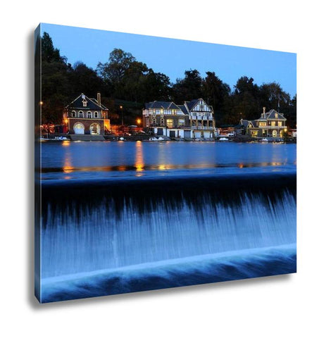 Gallery Wrapped Canvas, Philadelphia Boathouse Row At Twilight