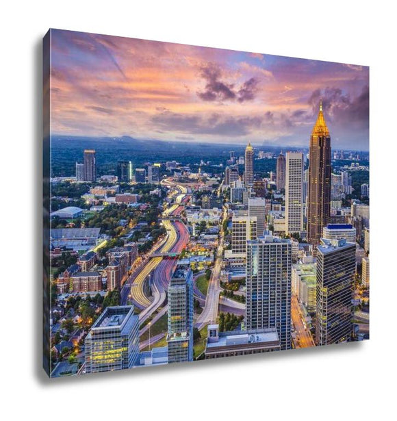 Gallery Wrapped Canvas, Atlanta Skyline