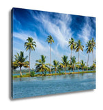 Gallery Wrapped Canvas, Kerala Travel Tourism Palms At Kerala Backwaters Allepey Kerala India This Is