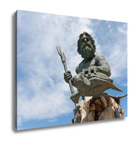 Gallery Wrapped Canvas, King Neptune Virginia Beach Statue
