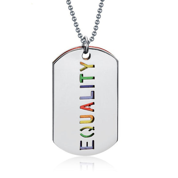 EQUALITY Pride Necklace