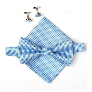 SMF 3pc Plaid Pretied Bow Sets