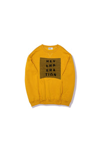 Reverberation Radio X Robbie Simon titled Heavy Vibes, gold sweatshirt