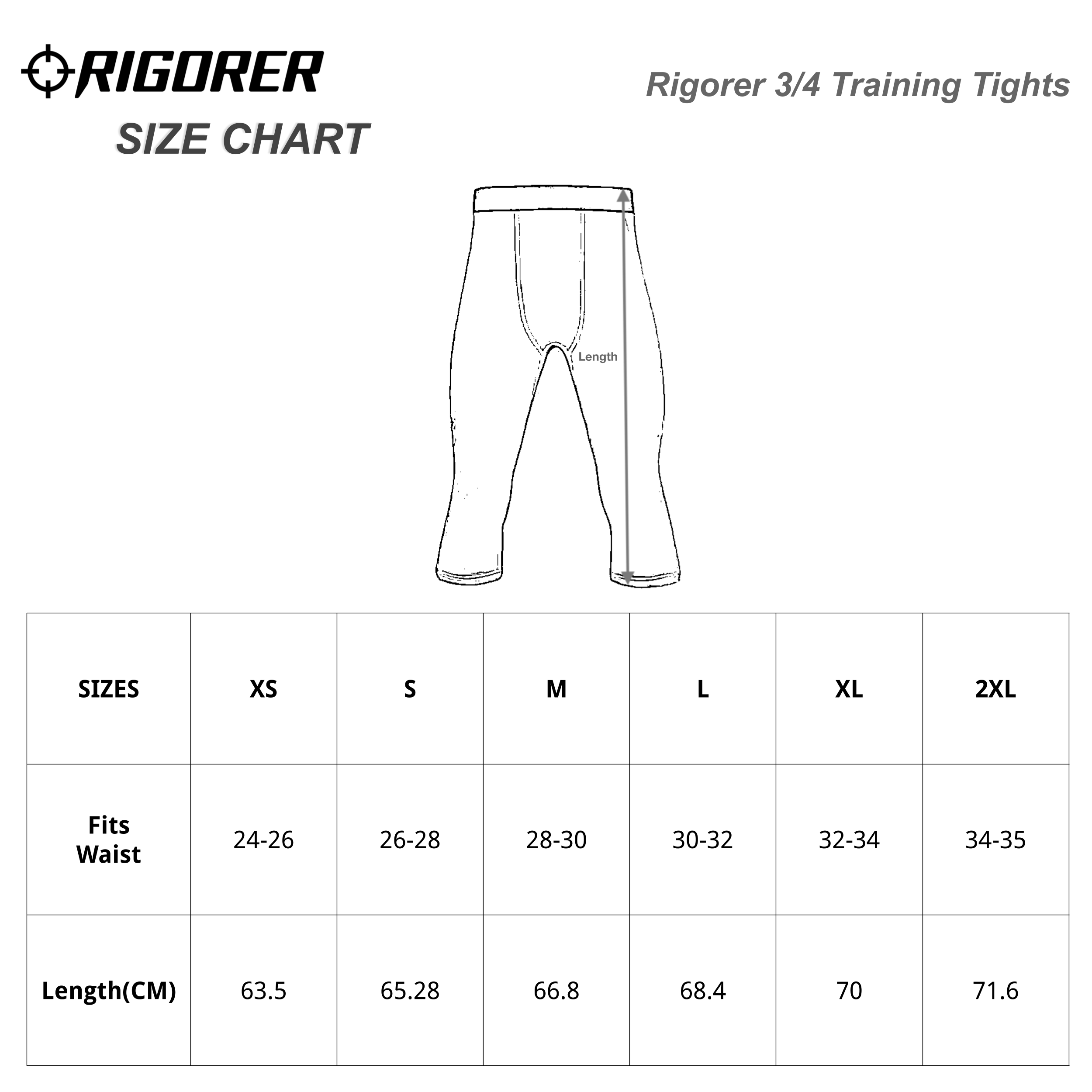 Rigorer 3/4 Training Tights
