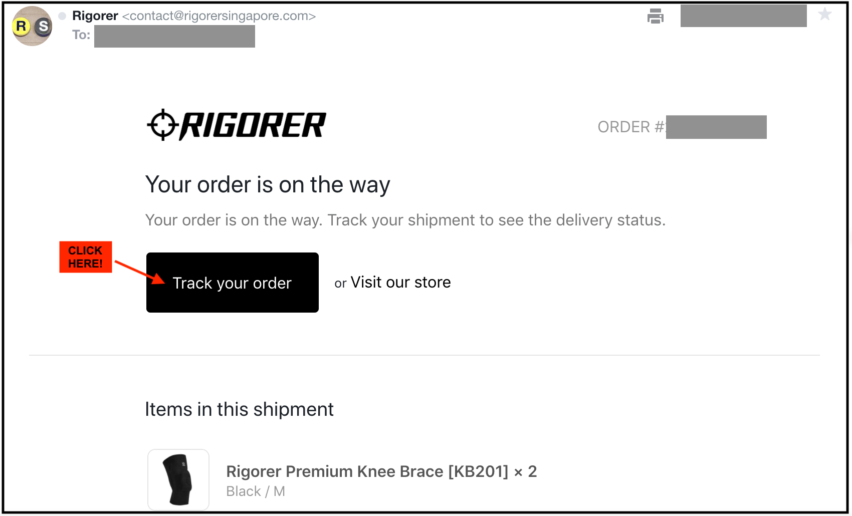 Track your order status