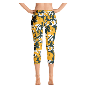 Green Bay Lambouflage Capri Leggings