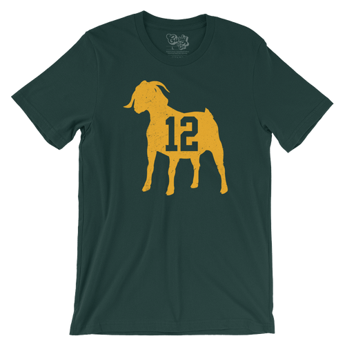 Green Bay Packers Aaron Rodgers GOAT T-shirt