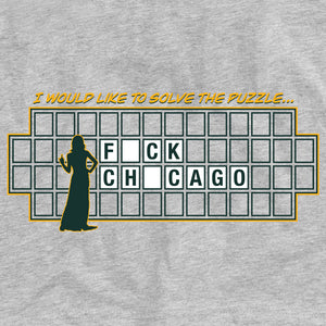 Fuck Chicago Wheel of Fortune Green Bay Packers T-Shirt