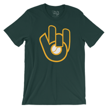 Retro Green & Gold Glove T-Shirt