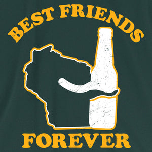 Wisconsin Beer Best Friends Forever T Shirt