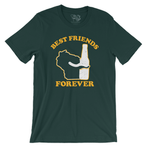 Wisconsin Beer Best Friends Forever T-Shirt