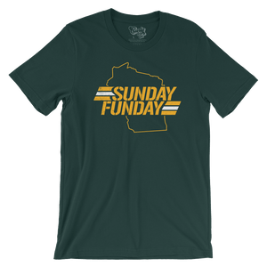 Green Bay Sunday Funday Packers Wisconsin T-Shirt