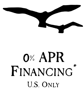 0% APR Financing US Only