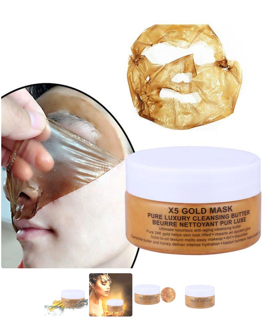 24K GOLD COLLAGEN FACE MASK - Pamper and nourish your face in this luxurious, all natural 24K Gold Collagen mask.