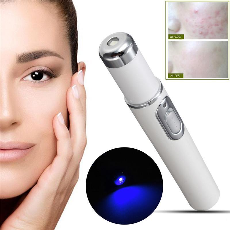 BLUE LIGHT ACNE THERAPY WAND - Accelerate the natural healing of acne by safely killing the bacteria in the skin and pores!