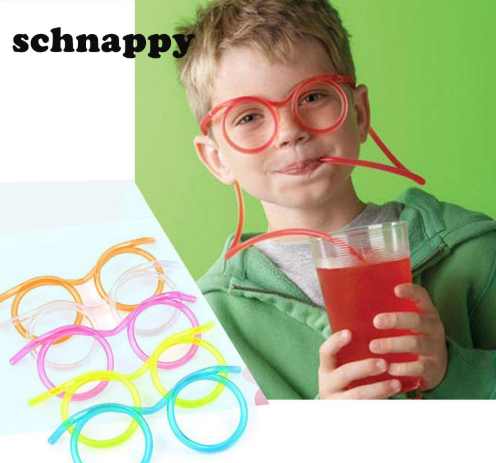 Plastic Straw Glasses