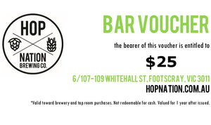 Bar Voucher - Hop Nation Brewery