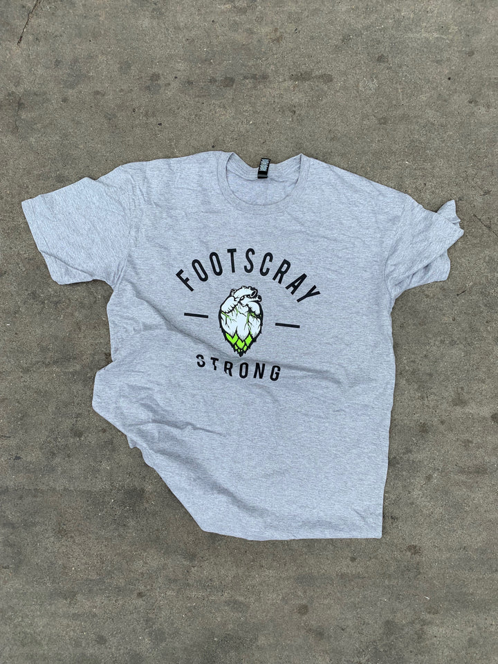 Hop Nation T-Shirt - Footscray Strong - GREY