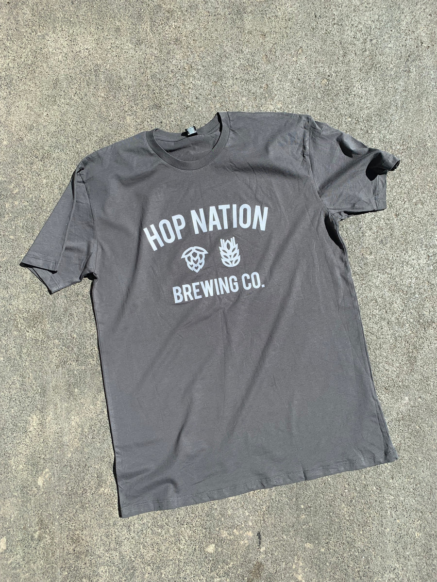 Hop Nation Brewing Co grey t-shirt