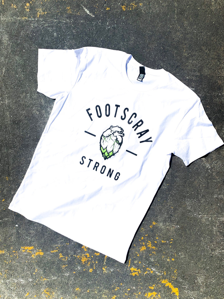 Hop Nation T-Shirt - Footscray Strong - WHITE