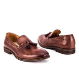 Mandujour Tassel Leather Loafers