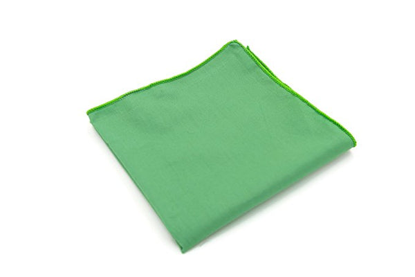 Mandujour 100% cotton Pocket Square Handmade Handkerchief (Green)