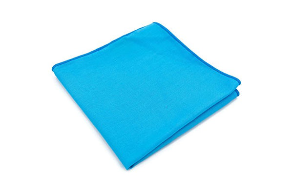 Mandujour 100% cotton Pocket Square Handmade Handkerchief (Turquoise)