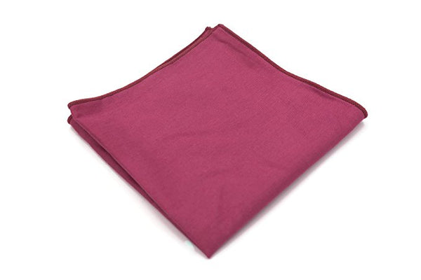 Mandujour 100% cotton Pocket Square Handmade Handkerchief (Blush)