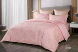 [$1 Home Fair] (JC182GBS54) Casa Calvin Cotton Satin Jacquard Series Duvet Set-Double 4 feet and a half