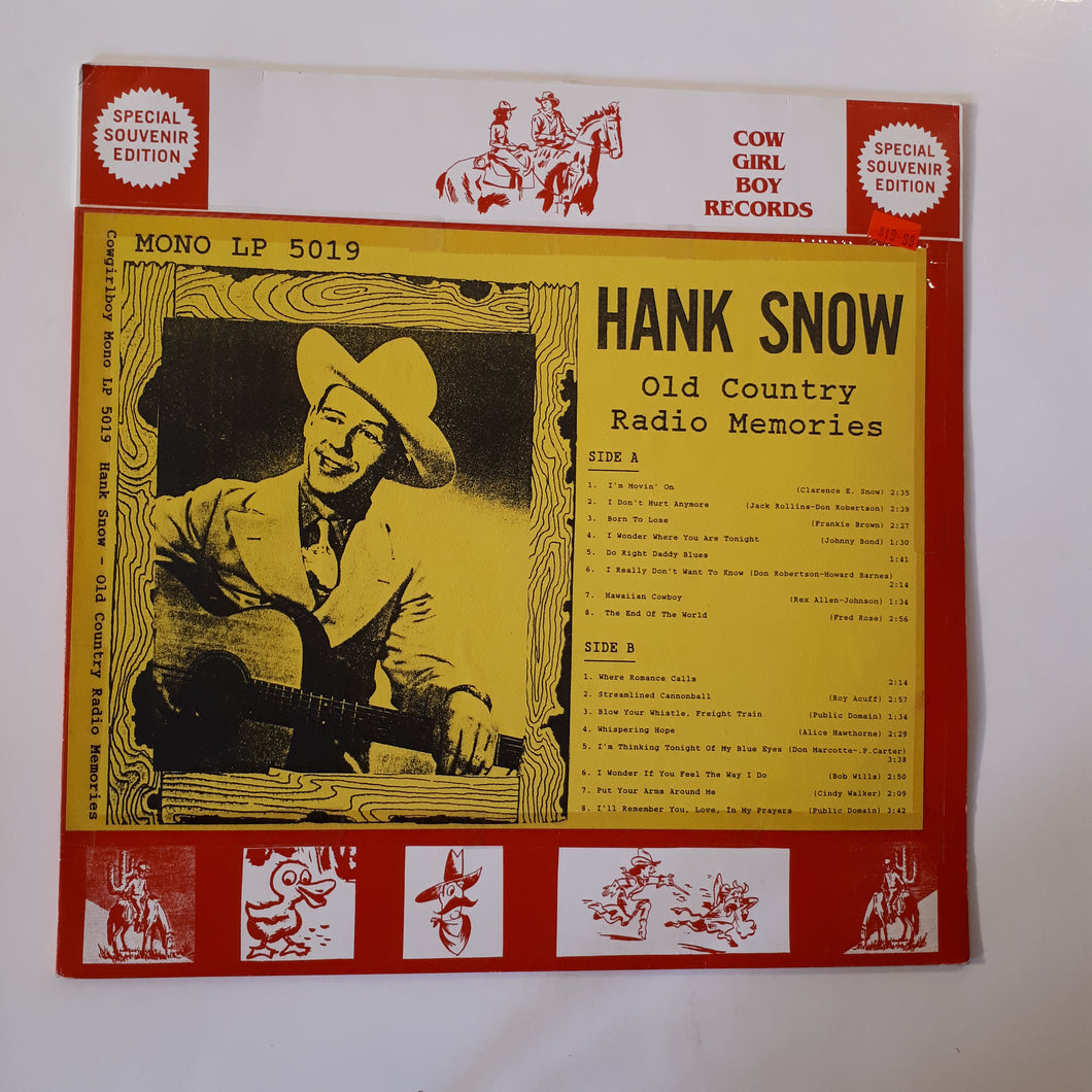 Hank Snow - Old country radio memories