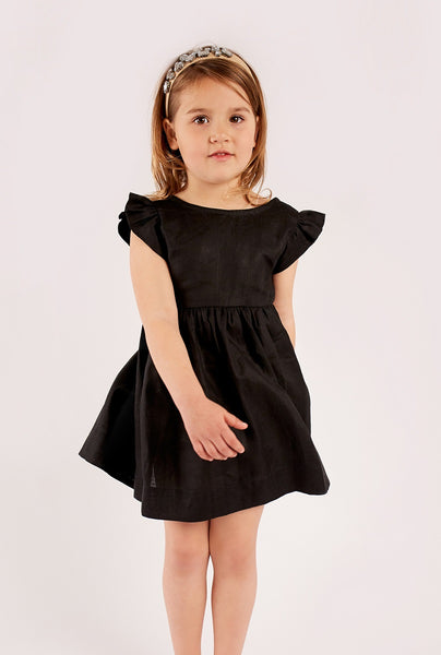 Black - Bow Back Dress