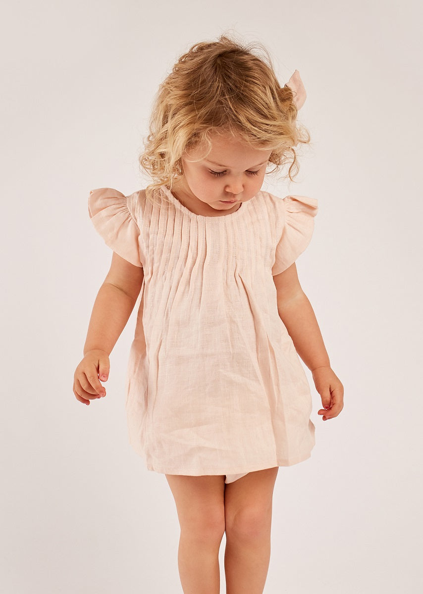 Blush - Cap Sleeve Dress + Bloomers