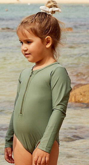 Olive - Long Sleeve One Piece