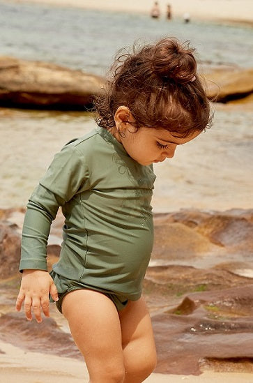 Olive - Unisex Long Sleeve Rash Vest