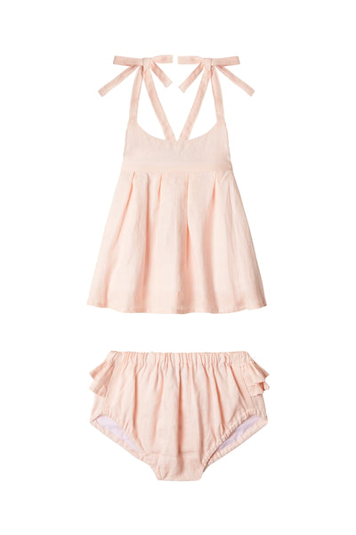 Blush - Strappy Dress + Frill Bloomers
