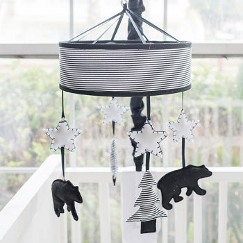 Black and White Bear Crib Mobile - Little Black Bear Collection