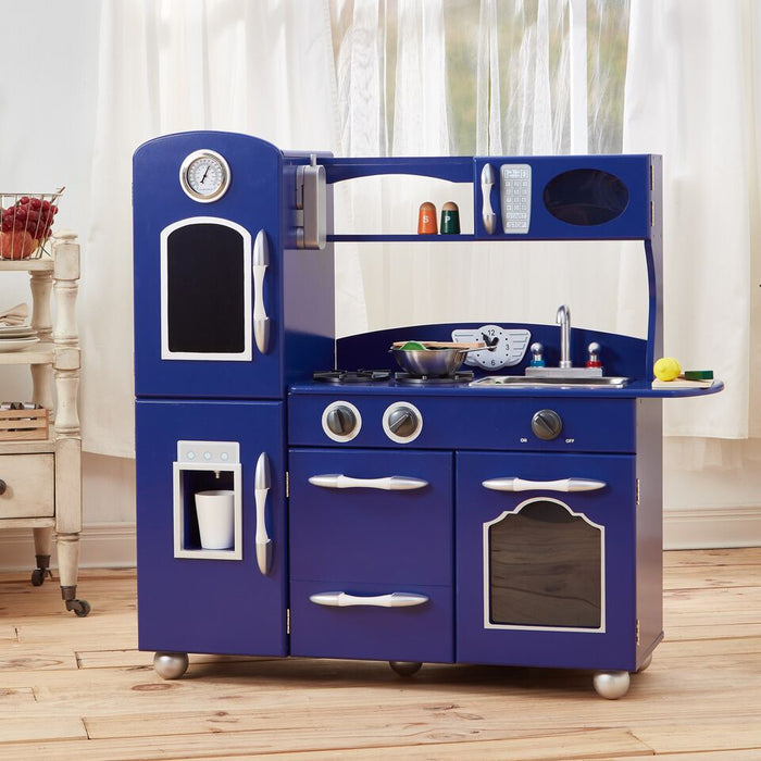 Retro Play Kitchen Little Chef Westchester - Navy Blue