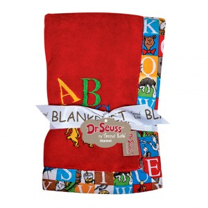 Trend Lab Dr. Seuss Alphabet Seuss Framed Coral Fleece Receiving Blanket