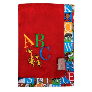 Dr. Seuss Alphabet Seuss Framed Coral Fleece Receiving Blanket