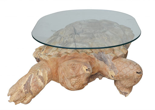 Teak Wood Turtle Table
