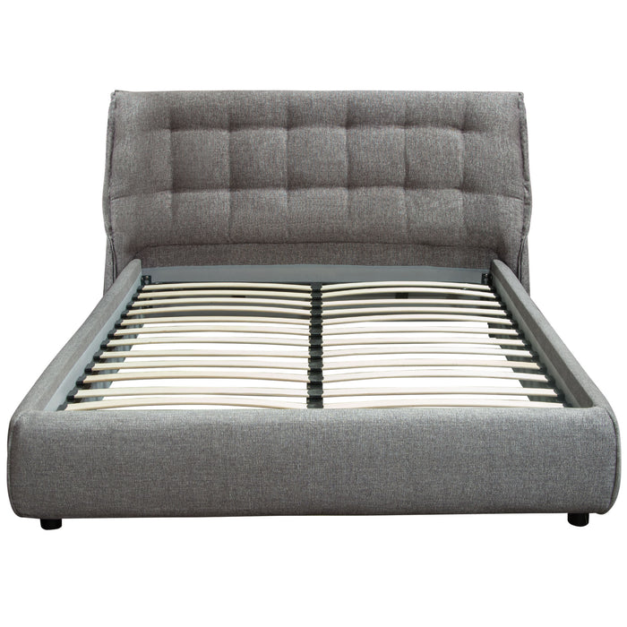 Ashton Eastern King Bed 2 Tone Grey Fabric