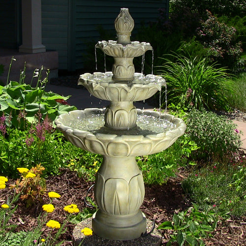 Classic Tulip 3 Tier Fountain in Garden Stone Finish