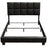 "Biscuit Black Leatherette Full Bed Complete ""Bed in a Box"""