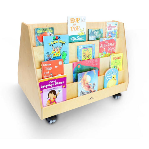 Two-Sided Mobile Book Display Stand