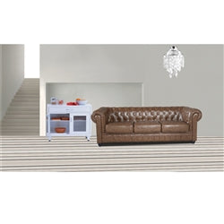 Fine Mod Imports Chesterfield Sofa Brown