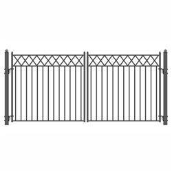 Steel Dual Swing Driveway Gate Stockholm Style