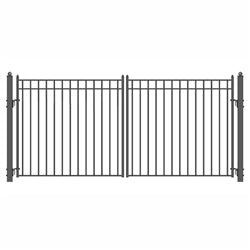 Steel Dual Swing Driveway Gate Madrid Style - 16 X 6 Feet