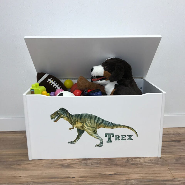 Little Colorado Little Prints T-Rex Toy Storage Box - White