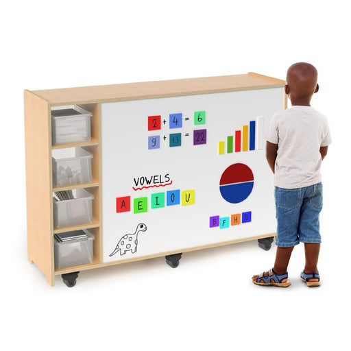 Magnetic Write and Wipe Mobile Cabinet