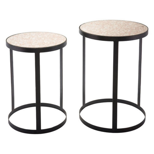 Antique Set of Two Tables Black